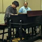 Playing a duo with 'The Man', Joey DeFrancesco playing drums! [my hands were literally shaking while I played; ha ha!] I supplied my 1970 Hammond B3 for this Master Class at Georgia State University (April 2014).
