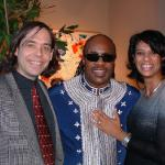 With Troi Bechet and Stevie Wonder (2003).